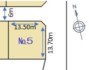 三和町分譲地 全8区画 №5(73坪)