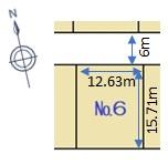 三和町分譲地 全8区画 №6(60坪)